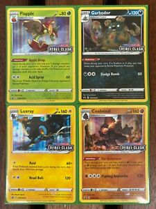 Pokemon Cards SWSH022+SWSH023+SWSH024+SWSH25 PRERELEASE REBEL CLASH *MINT*