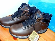 NEW Khombu Men Brown Leather Work Boots Waterproof Hiking Ravine Size 10