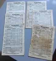 Six Wimbledon Greyhound Racing Programmes - January Or February 1970