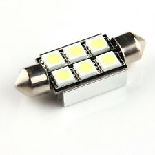 2x 39mm 6SMD 5050 Canbus Error Free LED Bulb Car License Plate Dome Light DC 12V
