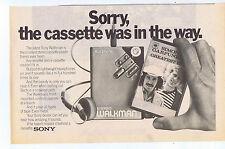 SONY WALKMEN / SIMON & GARFUNKEL 2 part press clipping 1981 20x30cm (11/7/1981)