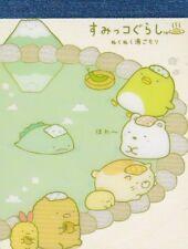 100 SHEETS Japanese Sumikko Gurashi Cute Onsen Day Kawaii Memo Pad Note San-X
