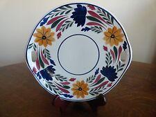 Societe Ceramique Maestricht Holland Server Platter Cake Plate Dutch Blue Gold