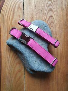 Hot Pink Adjustable Dog Collar- Small