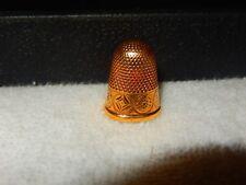 Antique Estate 14K Gold THIMBLE w/ wonderful engraved patterns Sz 7  5.13 Grams
