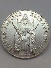 More details for solid silver britannia hallmark queens award royal mint 1977