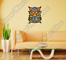 "Lucky 13 Skull Flower Art Gift Wall Sticker Room Interior Decor 20""X25"""