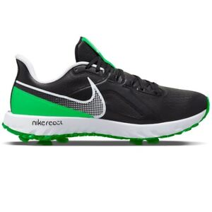 Nike React Infinity Pro Black Green Golf Shoes Cleat CT6621-001 Men Size Wide