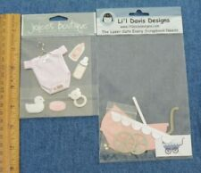 NEW JOLEE'S BOUTIQUE BABY GIRL OUTFIT BOTTLE + LI'L DAVIS DESIGNS PINK BUGGY