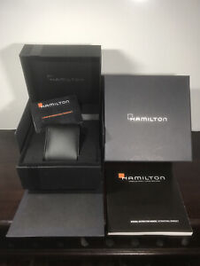 HAMILTON Empty Luxury Watch Display Box Completed with Booklet & W/ Card Only