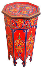 Moroccan Wood Side Table Corner Coffee Handmade Handpainted Moorish Middle East