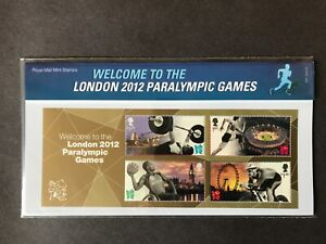 GB Presentation Pack 475 2012 WELCOME TO LONDON PARALYMPICS SHEET