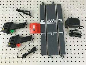 SCX Analog Base Station 1/32 Slot Car Track & 2 Controllers & Power Supply NEW