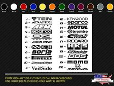 JDM Car Stickers Sponsor Decals Aftermarket Racing Performance logos (12)pcs.