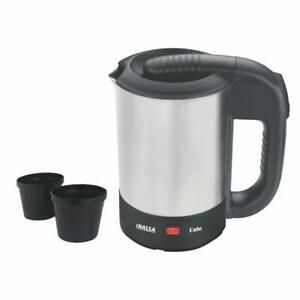 0.5 Ltr Electric Travel Stainless Steel Kettle With 2 Cups (Silver) Of 1000 W