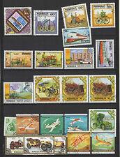 voiture avion et autres années 70/80 MONGOLIE 22 timbres oblitérés  / T1436