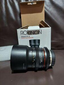 Rokinon 50mm T1.3 Compact High Speed Lens AS UMC BLACK Micro 4/3 NEW