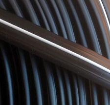 10 m Abdeckprofil Kederschiene Schraubkanal Leistenfüller schwarz / weiß 12mm