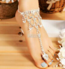 Sandals Beach Anklet Jewelry Shoes Lace Wedding Foot Chain White/Ivory Barefoot