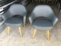 2 Authentic Knoll® Saarinen Executive Armchair with Wood Legs