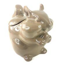 Squirrel Cookie Jar Canister Target Threshold Stoneware 2016 Critter Acorn
