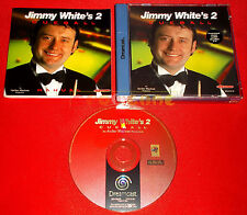JIMMY WHITE'S 2 CUEBALL Sega Dreamcast Dc Versione Italiana PAL ○○ COMPLETO - EQ