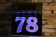 Solar Hausnummer  LED  (3-D Effekt) 185x135 Schild Solarleuchte