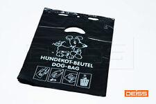 1000 Stück Hundekotbeutel HDPE schwarz 250 x 310 mm auf Block à 50 St. 5114-260