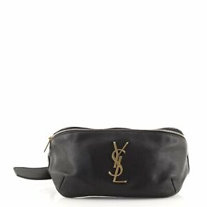 Saint Laurent Classic Monogram Belt Bag Leather
