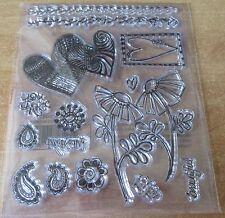 Conjunto De Sellos De Goma Transparente-Hearts & Flowers-BN