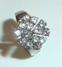 Ring 750 Weiß-Gold mit 1,03 ct. Brillanten Karatzahl eingraviert 53-54 TOP 4,8g