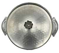 Vintage Hammered Forged Aluminum Lid & Holder for Casserole Pyrex Bowl Dish #023