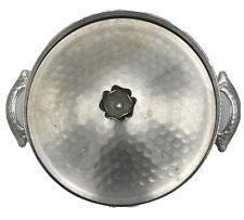 Vintage Hammered Forged Aluminum Lid & Holder for Casserole Pyrex Bowl Dish #023