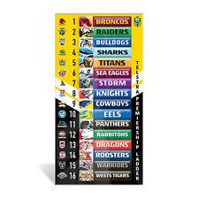 Official NRL Mini Scoreboard Score Board Team Magnetic Ladder