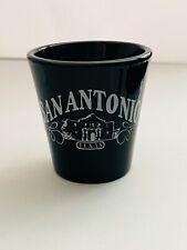 San Antonio Souvenir Shot Glass Black Glass