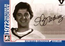 09-10 itg year hockey 1972 vault richard brodeur quebec nordiques autograph auto