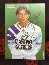 Autogramm WOLFGANG FEIERSINGER-NS Österreich-AUSTRIA/CASINO SALZBURG-92/93-AK!