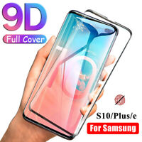 9D Full Cover Tempered Glass Screen Protector For Samsung Galaxy S10 S10+ Plus