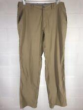 Montbell Men Outdoor Pants Size Large 32x32 Beige Nylon Blend