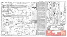 Jetex D H 110 Sea Vixen plan with patterns