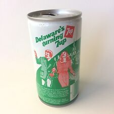 "Vintage 1979 7up ""America's Turning 7 up"" Collectible Soda Can - Delaware"