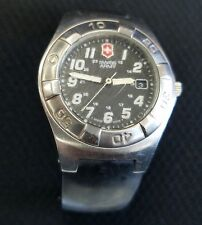 VICTORINOX SWISS ARMY WATCH DATE WR100M BLACK RUBBER BAND EXCURSION