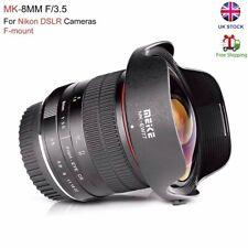 Meike 8mm F3.5 Wide Angle Fisheye Lens for Nikon D7100 D800 F-mount Cameras