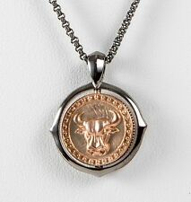 Stephen Webster Gold Plated Sterling Silver Taurus Pendant chain Necklace Zodiac