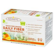 Konsyl Orange Sugar Free Fiber Psyllium 30 count packets powder laxative 07/2022