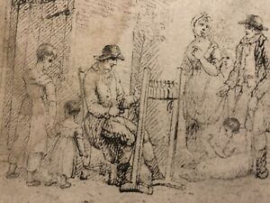 18th Century - Early 19th Century Old Master Drawing Sketch Of Figures