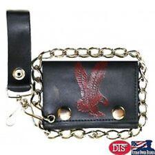 Biker/ Trucker Leather Red Eagle Chain Wallet