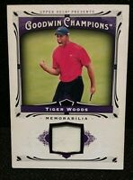 TIGER WOODS Tournament USED GOLF MEMORABILIA SWATCH PIECE 13 GOODWIN RELIC CARD