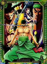 Poster A3 One Piece Zoro Robin Brook Dracule Mihawk Aokiji Manga Anime Cartel 01