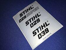 Stihl 029 039 029 Super New OEM badge logo sticker set 1127 967 1503